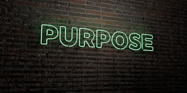 Purpose Leuchtschrift